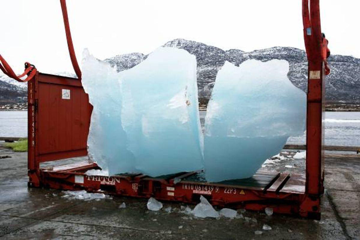 Loading ice at Nuuk Port and Harbour, Greenland       (Group Greenland)