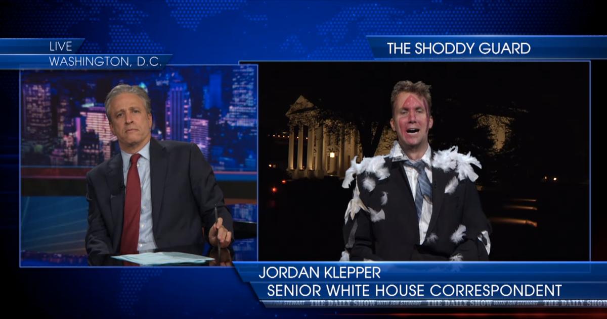 """Stewart and Jordan Klepper  (screenshot/""""The Daily Show"""")"""
