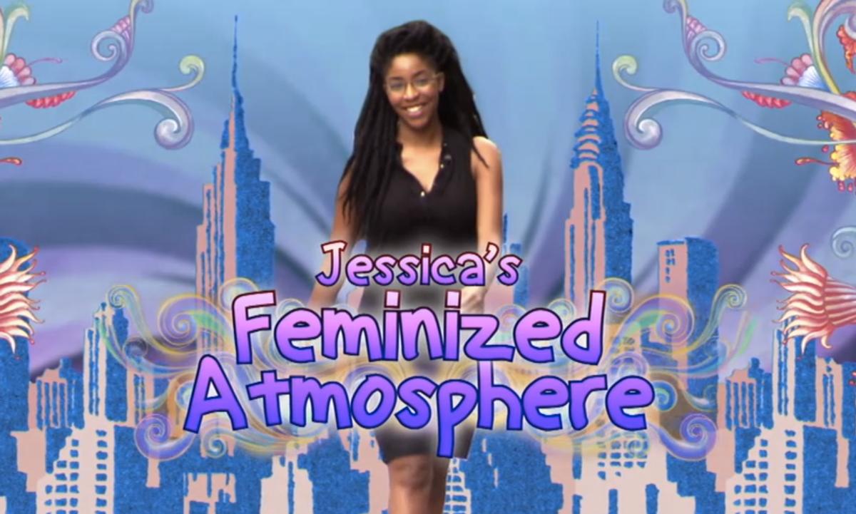 """Jessica's Feminized Atmosphere""  (screenshot/'The Daily Show"")"