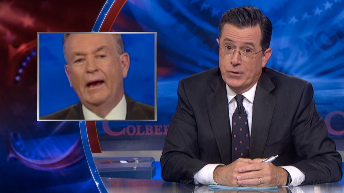 """(screenshot/""""The Colbert Report"""")"""