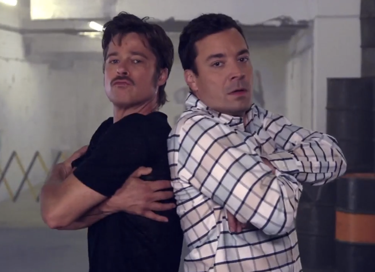 Brad Pitt and Jimmy Fallon      (NBC)