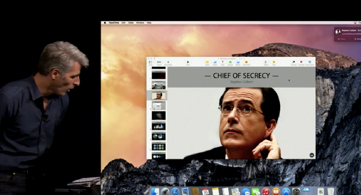 """""""Chief of Secrecy"""" Stephen Colbert at Apple   (The Verge)"""