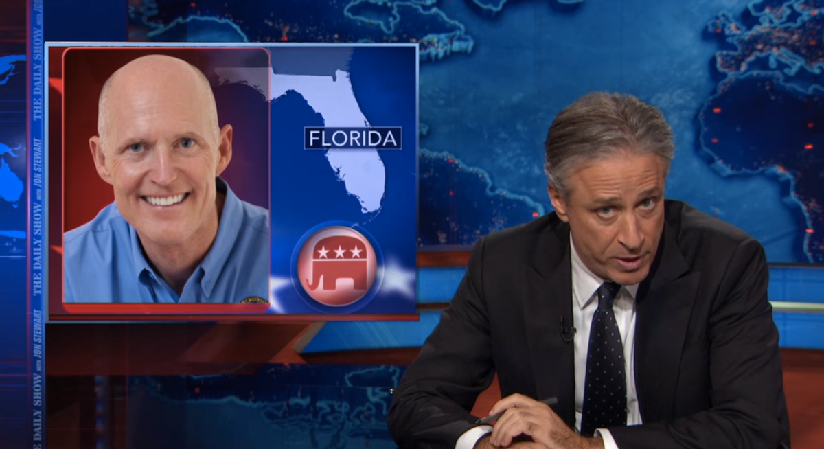 Jon Stewart on Fangate   (Comedy Central)