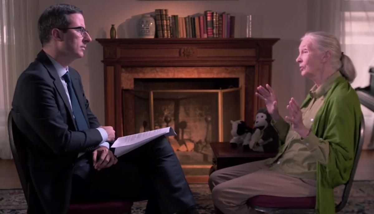 "John Oliver interviews Dr. Jane Goodall on ""Last Week Tonight""   (HBO)"
