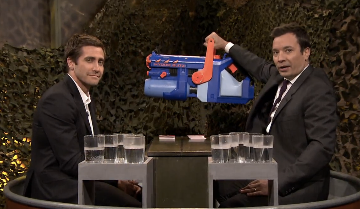 "Jake Gyllenhaal and Jimmy Fallon    (NBC/""The Tonight Show"")"
