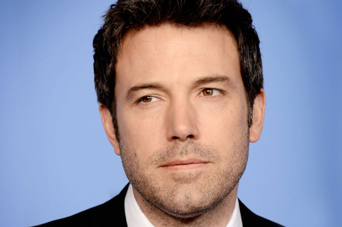 Ben Affleck poses in the press room at the 71st annual Golden Globe Awards at the Beverly Hilton Hotel on Sunday, Jan. 12, 2014, in Beverly Hills, Calif. (Photo by Jordan Strauss/Invision/AP)       (Jordan Strauss)