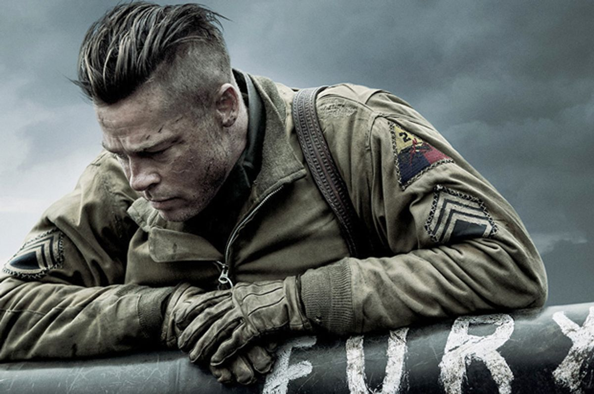 """Brad Pitt in """"Fury""""      (Sony Pictures)"""