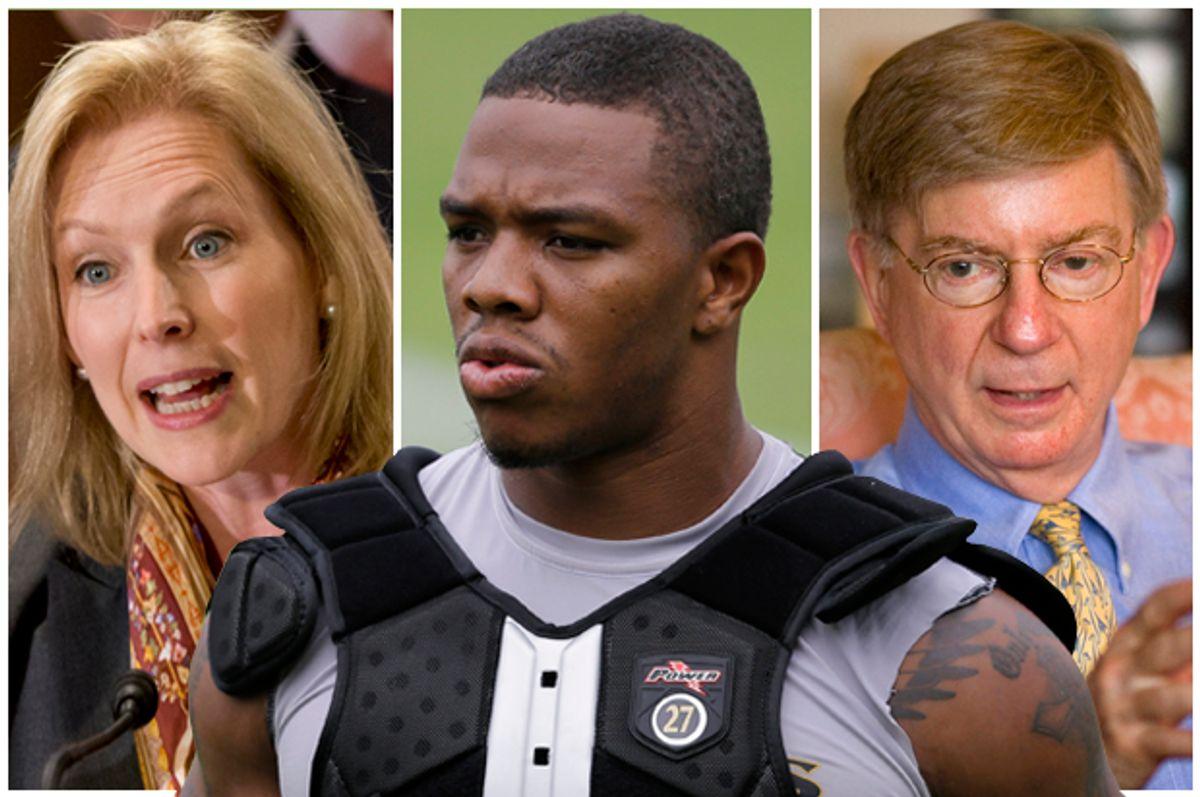 Kirsten Gillibrand, Ray Rice, George Will      (AP/J. Scott Applewhite/Salon)