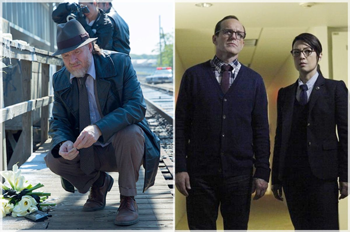 """Donal Logue in """"Gotham;"""" Clark Gregg and Ming-Na Wen in """"Agents of S.H.I.E.L.D.""""      (Fox/ABC)"""