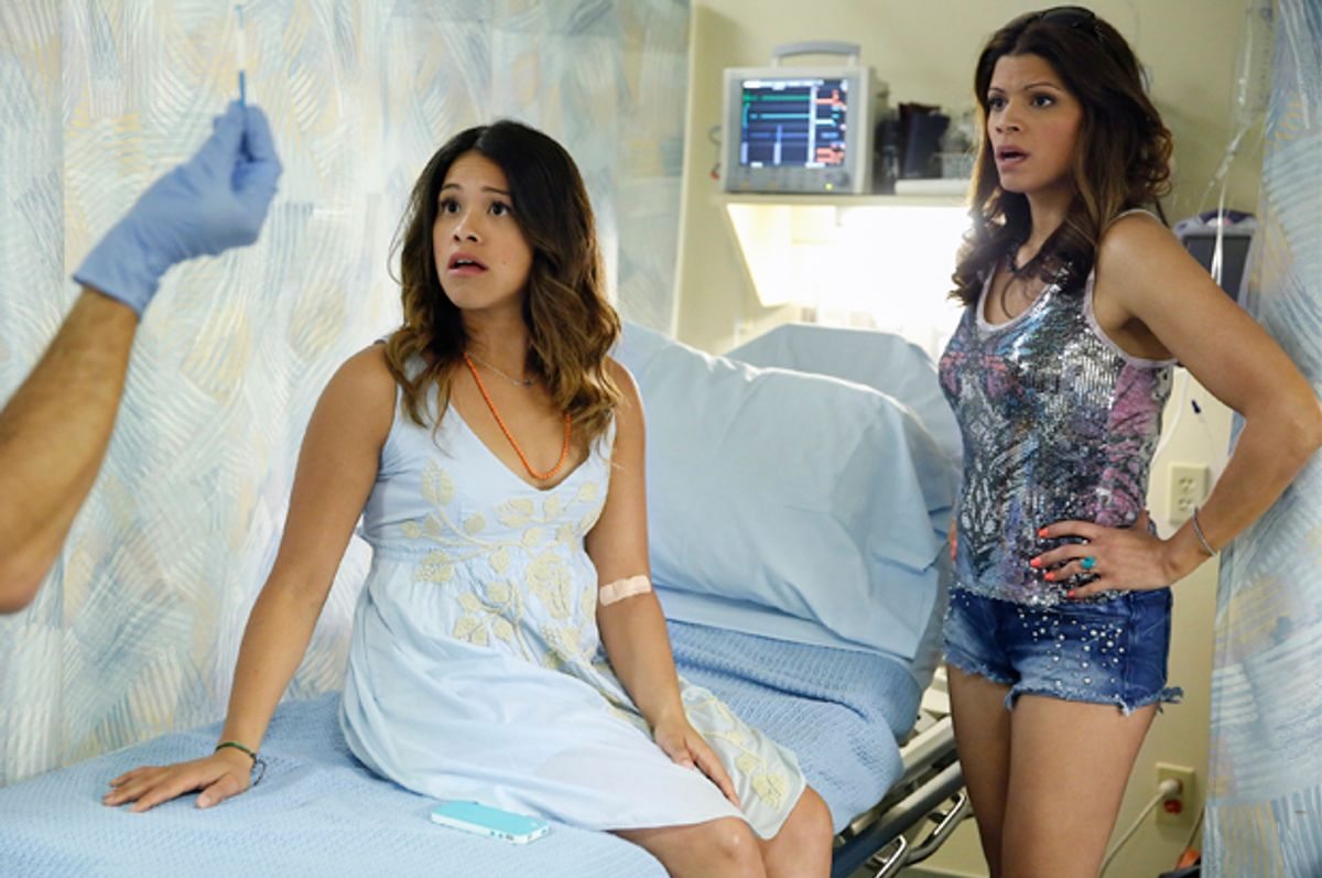 """Gina Rodriguez and Andrea Navedo in """"Jane the Virgin""""           (The CW Network/Greg Gayne)"""