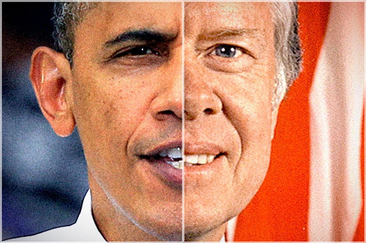 Barack Obama, Jimmy Carter              (AP/Al Behrman/Wikimedia/Salon)