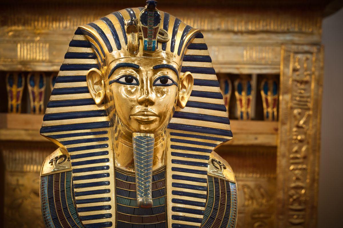 Modern copy of Tutankhamen's funerary mask  (<a href='url to photographer'>Jose Ignacio Soto</a> via <a href='http://www.shutterstock.com/'>Shutterstock</a>)