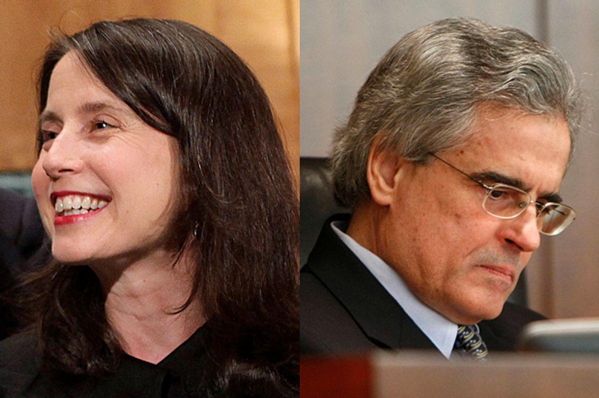Kara Stein, Luis Aguilar         (Reuters/Yuri Gripas/AP)