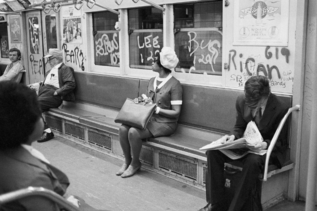 A New York City subway car, July 26, 1972        (AP/Jim Wells)