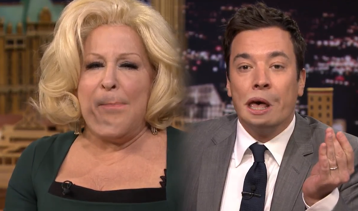 Bette Midler and Jimmy Fallon    (NBC)