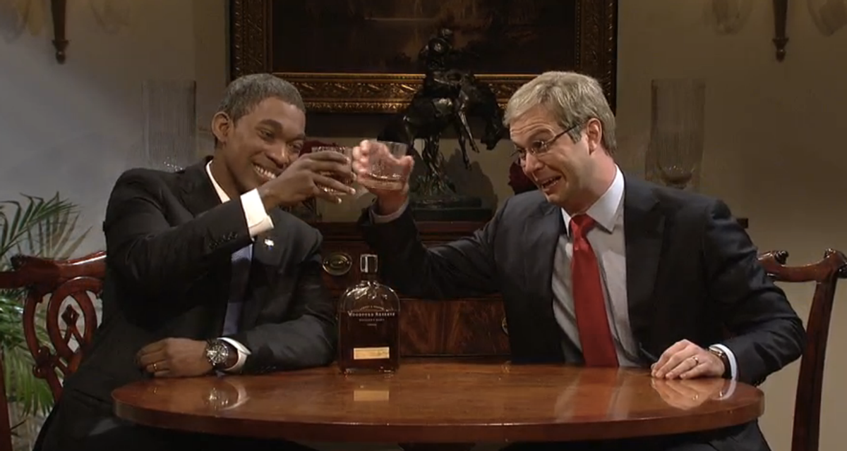 "Jay Pharoah as Barack Obama and Taran Killam as Mitch McConnell on ""Saturday Night Live""               (NBC/""Saturday Night Live"")"