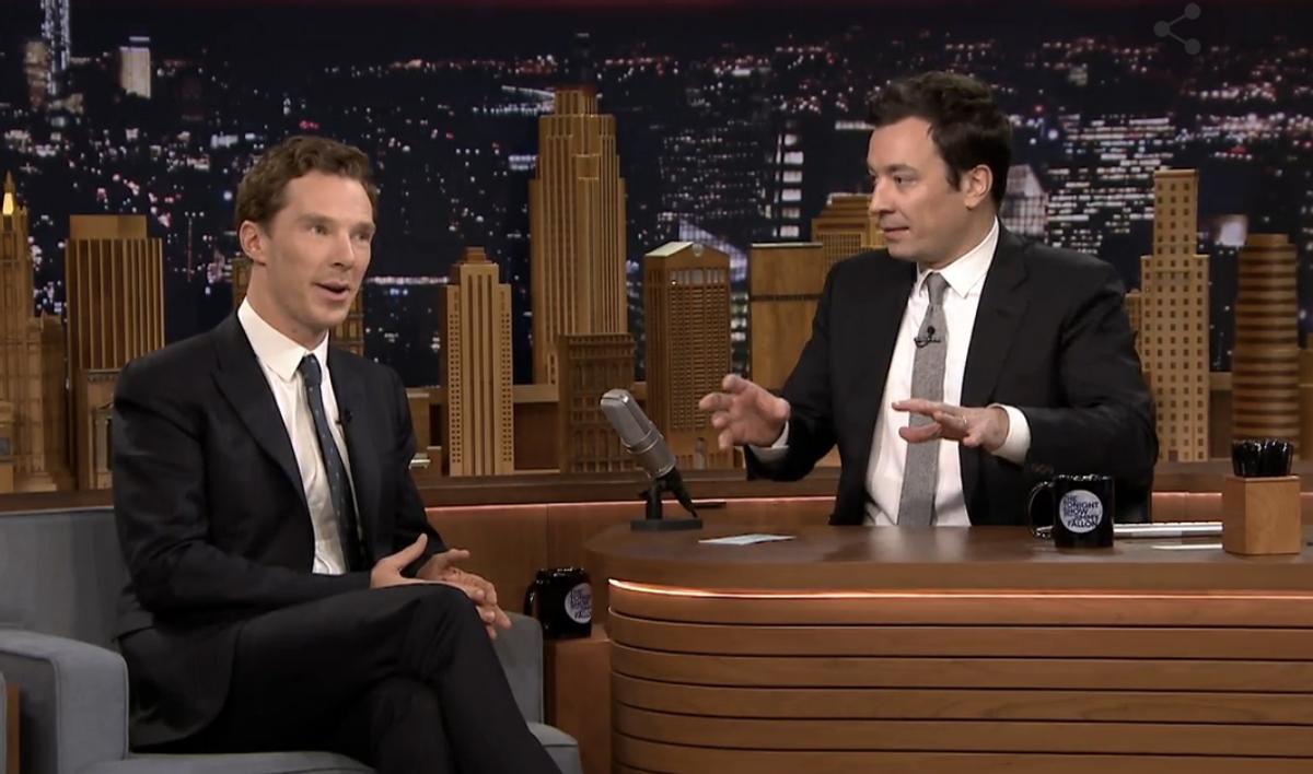 Benedict Cumberbatch and Jimmy Fallon          (NBC)