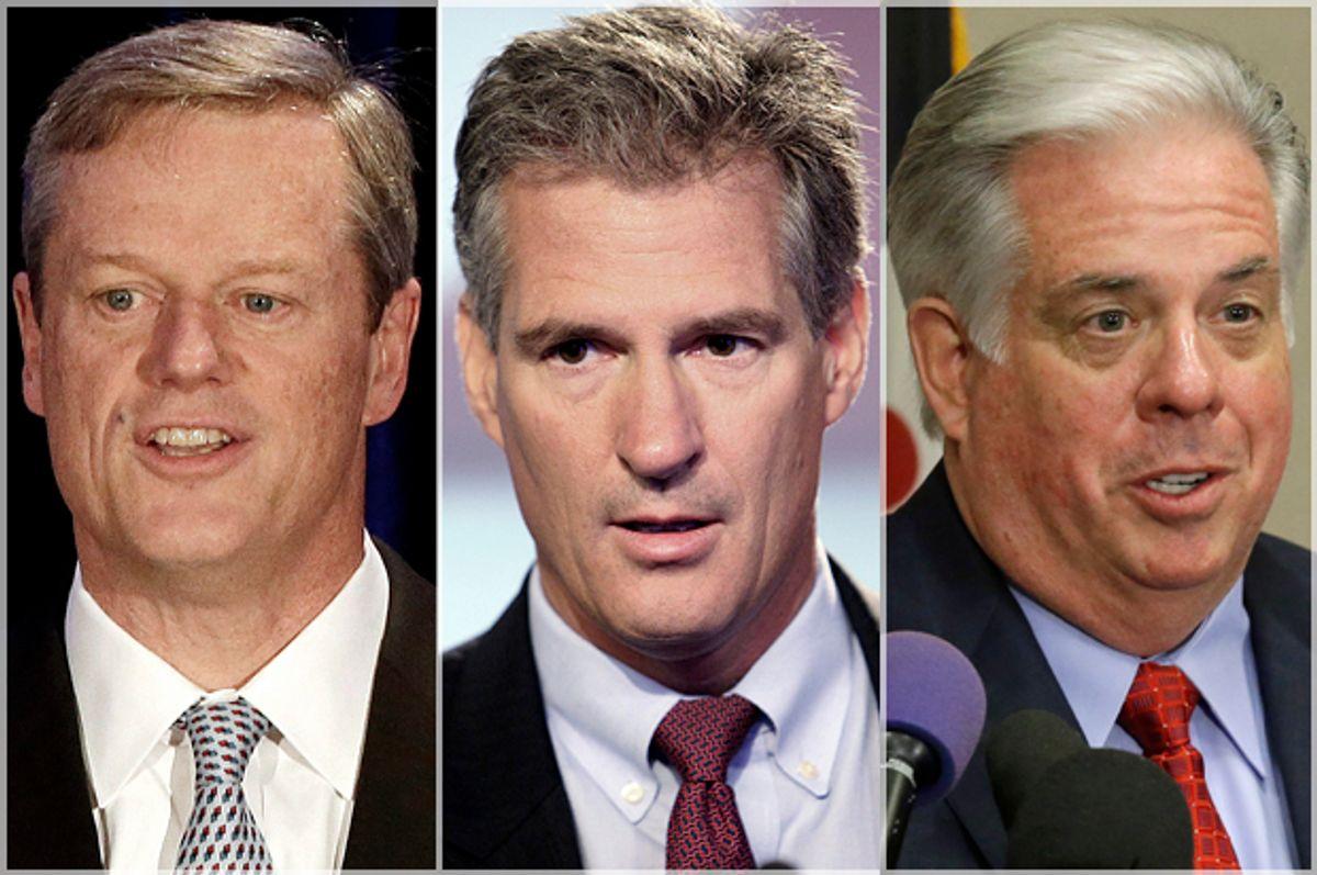 Charlie Baker, Scott Brown, Larry Hogan        (AP/Stephan Savoia/Jim Cole/Patrick Semansky)