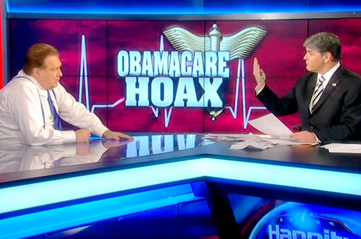 Bob Beckel, Sean Hannity         (Fox News)