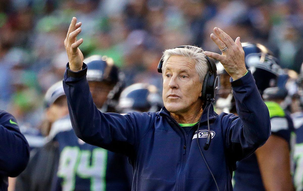 Seattle Seahawks head coach Pete Carroll.  (AP Photo/Elaine Thompson)