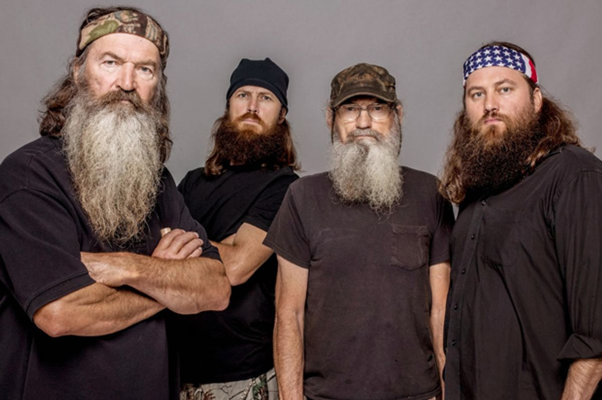 """Phil Robertson, Jase Robertson, Si Robertson and Willie Robertson of """"Duck Dynasty""""       (AP/Zach Dilgard)"""