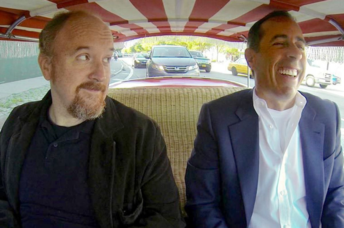 """Louis C.K. and Jerry Seinfeld in """"Comedians In Cars Getting Coffee""""         (Crackle)"""