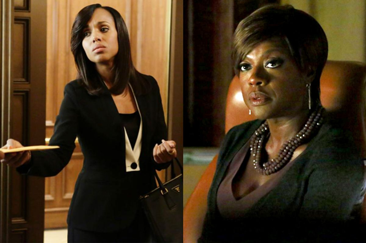 """Kerry Washington in """"Scandal""""; Viola Davis in """"How to Get Away with Murder""""      (ABC)"""