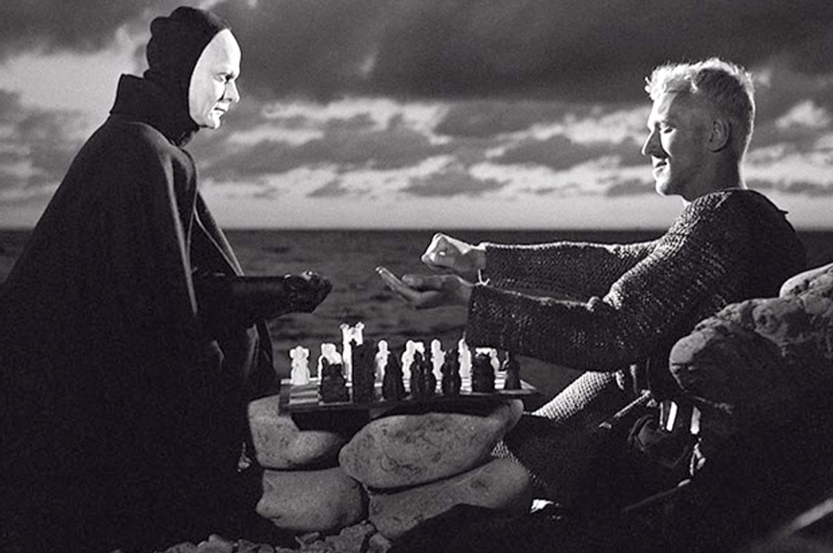 """Max von Sydow and Bengt Ekerot in """"The Seventh Seal"""""""