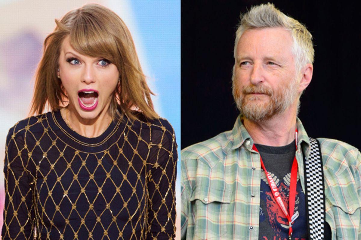 Taylor Swift, Billy Bragg   (Reuters/Lucas Jackson/AP/Jonathan Short)