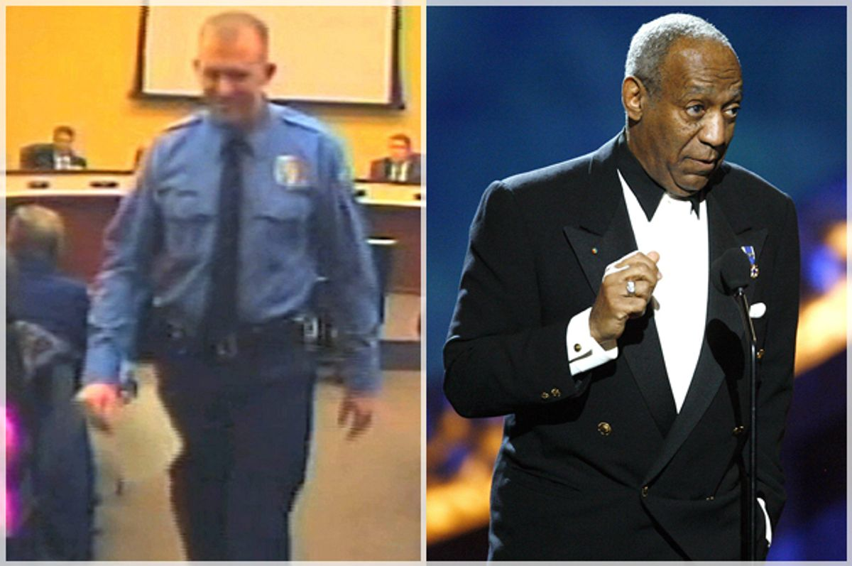 Darren WIlson, Bill Cosby                  (AP/City of Ferguson/Reuters/Mario Anzuoni)