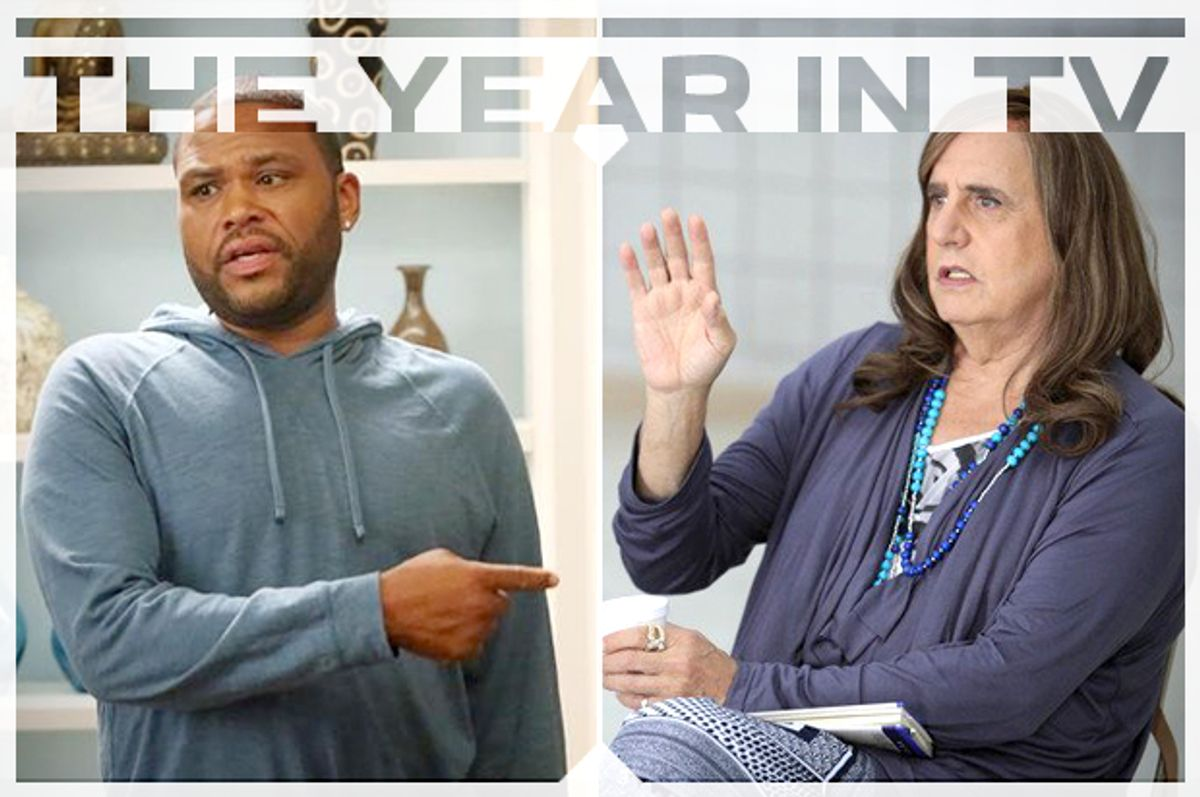 "Anthony Anderson in ""Black-ish"" and Jeffrey Tambor in ""Transparent""        (ABC/Amazon/Salon)"