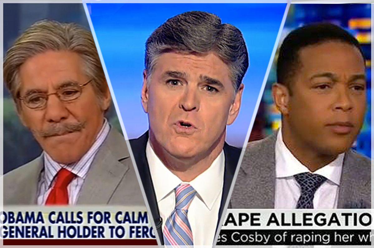 Geraldo Rivera, Sean Hannity, Don Lemon     (Fox News/CNN)
