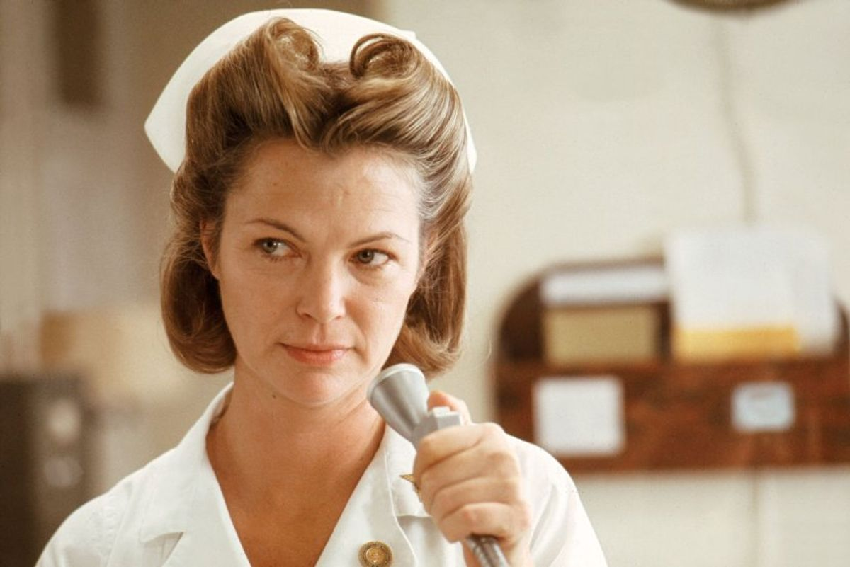 """Louise Fletcher as Nurse Ratched in """"One Flew Over the Cuckoo's Nest"""""""