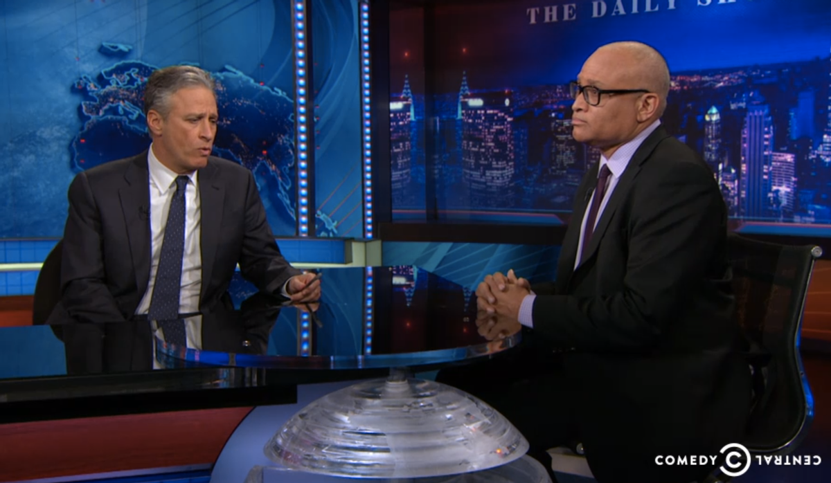 Jon Stewart and Larry Wilmore    (Comedy Central)