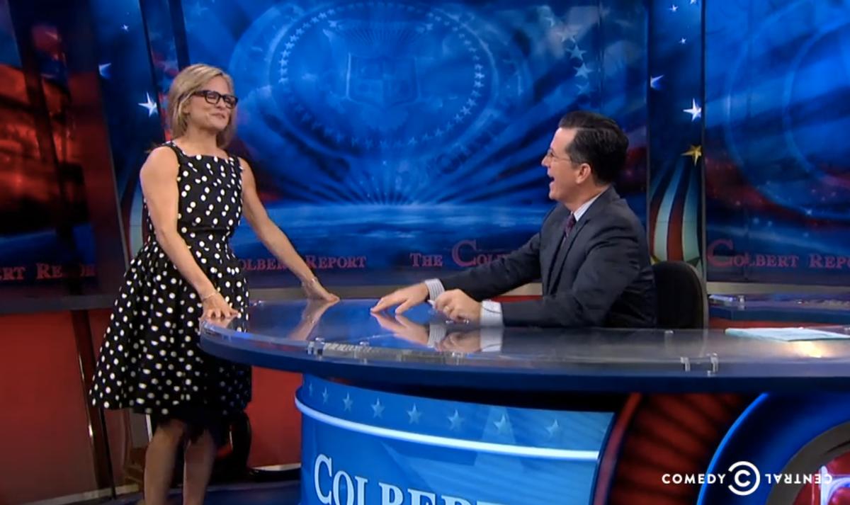 Amy Sedaris and Stephen Colbert          (Comedy Central)