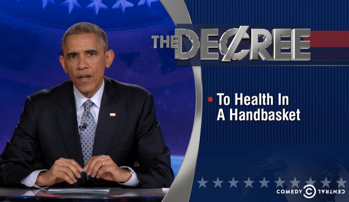 "President Obama ""The Decree""          (Comedy Central)"