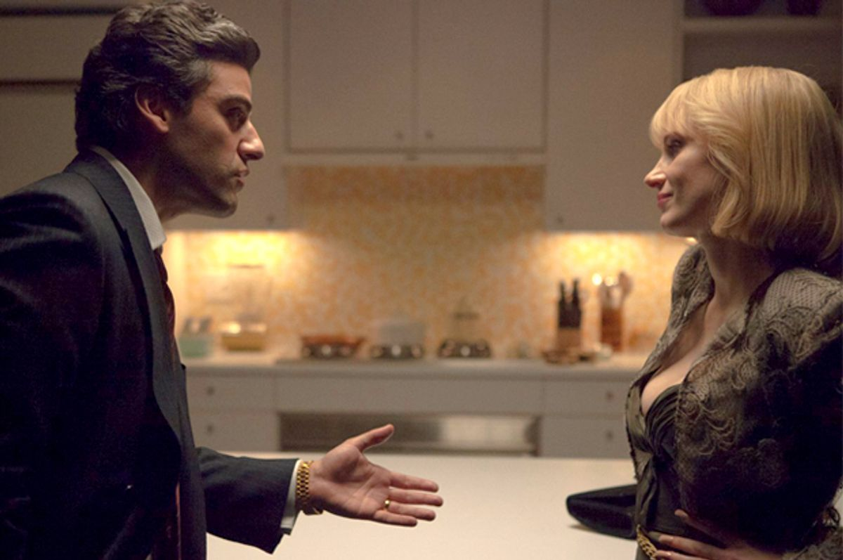 """Oscar Isaac and Jessica Chastain in """"A Most Violent Year""""   (Before The Door Pictures)"""