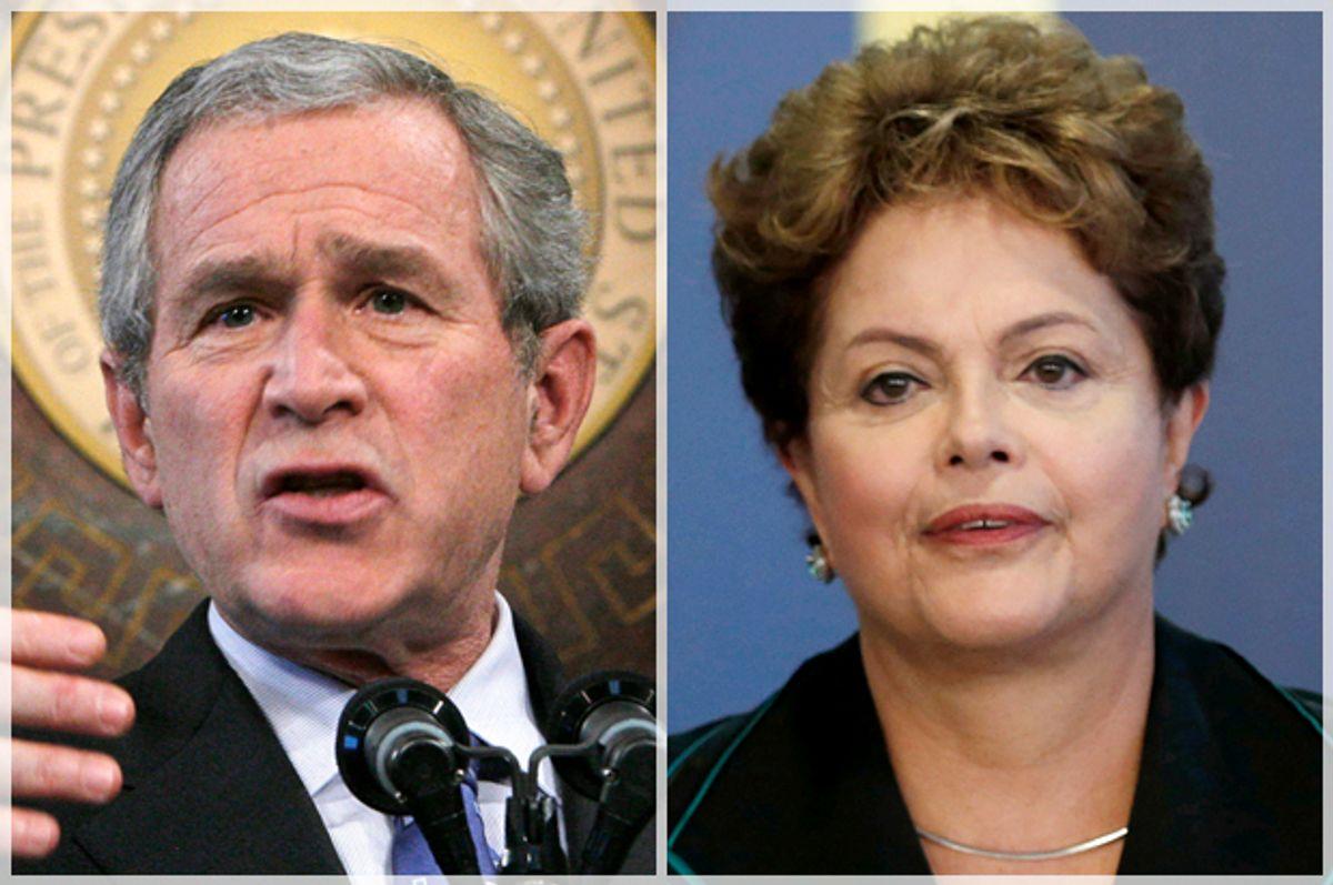 George W. Bush, Dilma Rousseff            (Reuters/Jim Young/Joedson Alves)