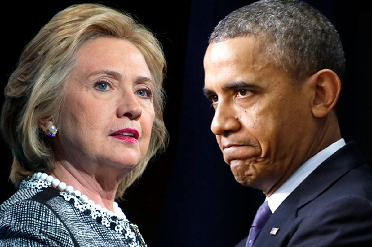 Hillary Clinton, Barack Obama            (AP/Cliff Owen/Reuters/Kevin Lamarque/Photo montage by Salon)