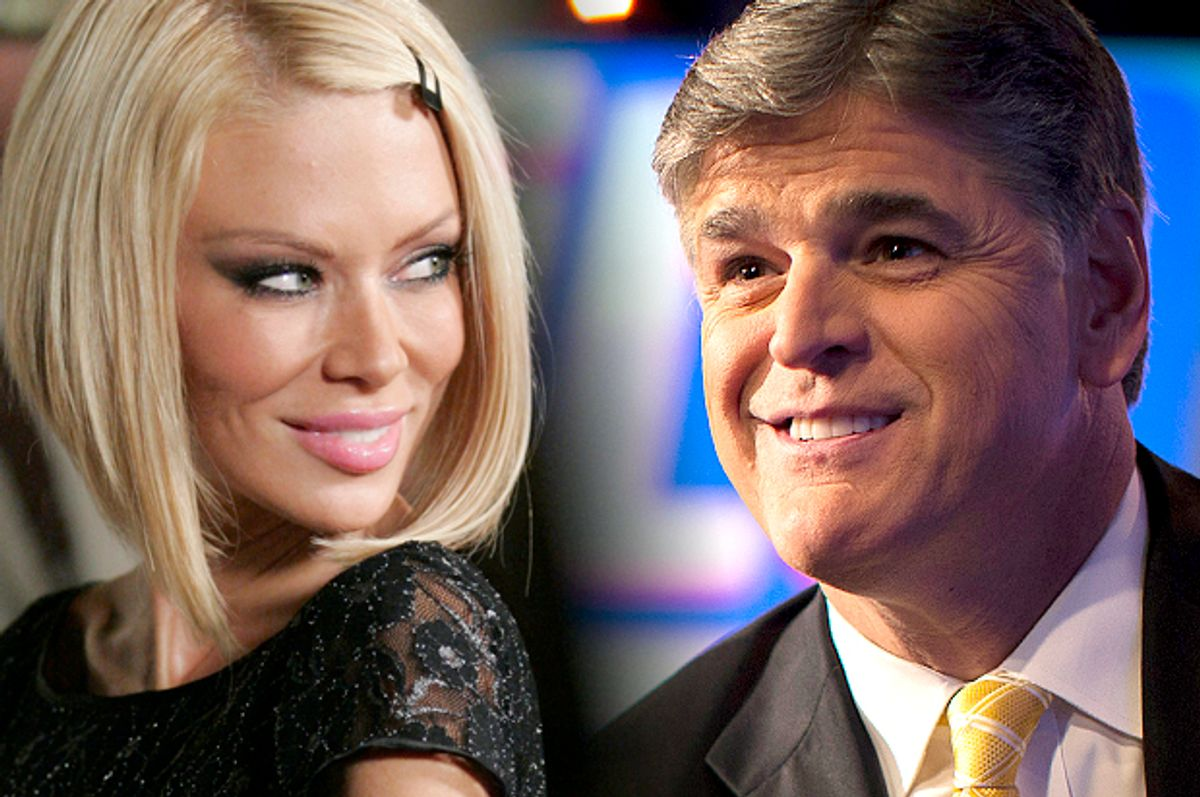 Jenna Jameson, Sean Hannity           (AP/Dan Steinberg/Reuters/Mike Segar/Photo montage by Salon)