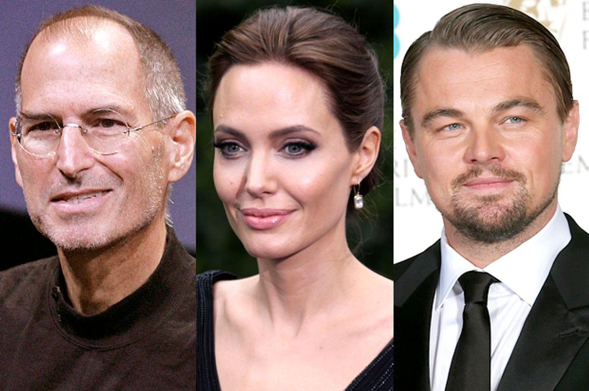 Steve Jobs, Angelina Jolie, Leonardo DiCaprio       (AP/Paul Sakuma/Joel Ryan/Reuters/Suzanne Plunkett)