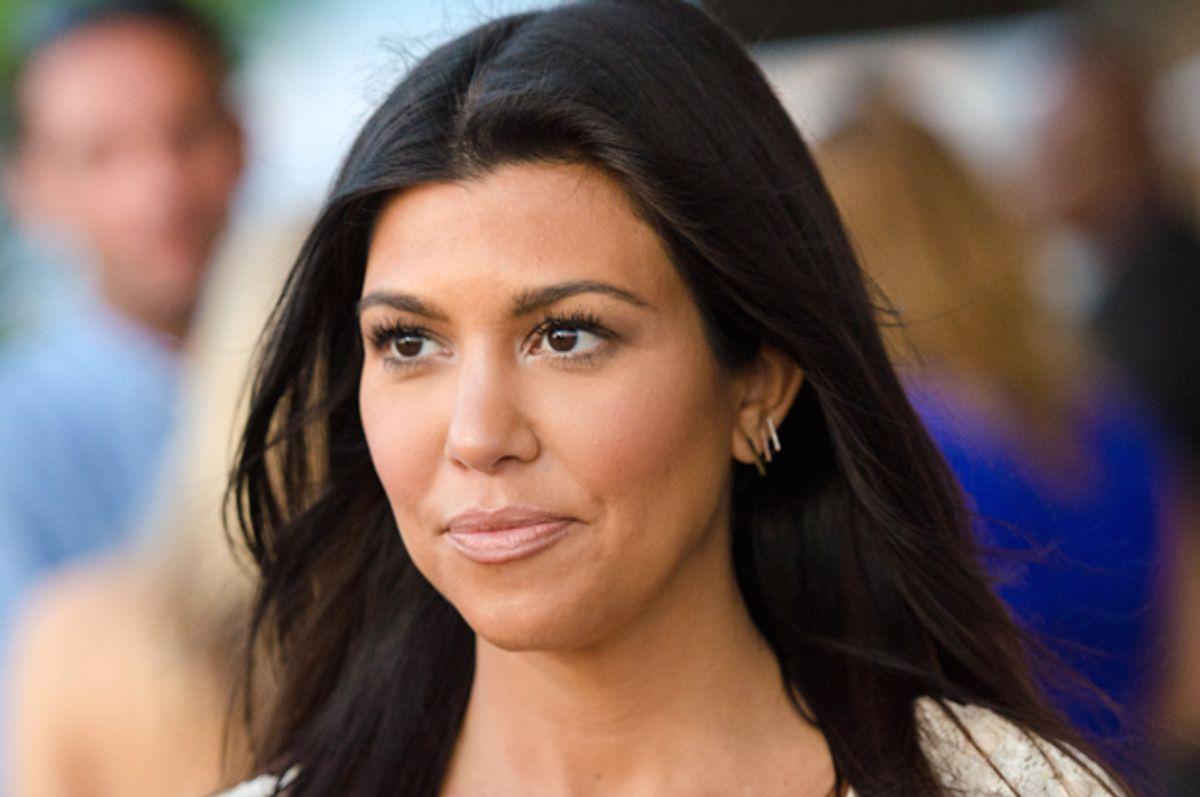 Kourtney Kardashian: Pregnant and nude in DuJour