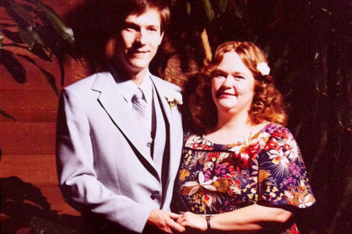 A photo of the author's parents