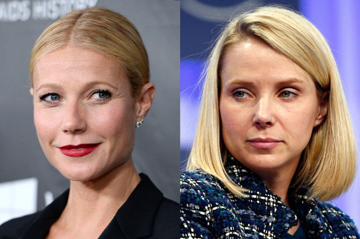 Gwyneth Paltrow, Marissa Mayer      (AP/Jordan Strauss/Reuters/Denis Balibouse)