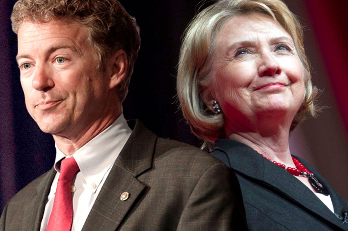 Rand Paul, Hillary Clinton    (AP/Reed Saxon/Cliff Owen/Photo montage by Salon)