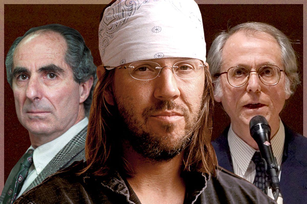 Phillip Roth, David Foster Wallace, Don DeLillo   (AP/Joe Tabbacca/Hachette/Stephen Chernin/Photo montage by Salon)