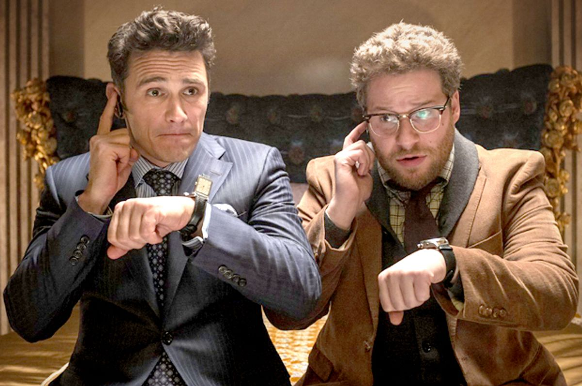 """James Franco and Seth Rogen in """"The Interview""""            (CTMG, Inc.)"""