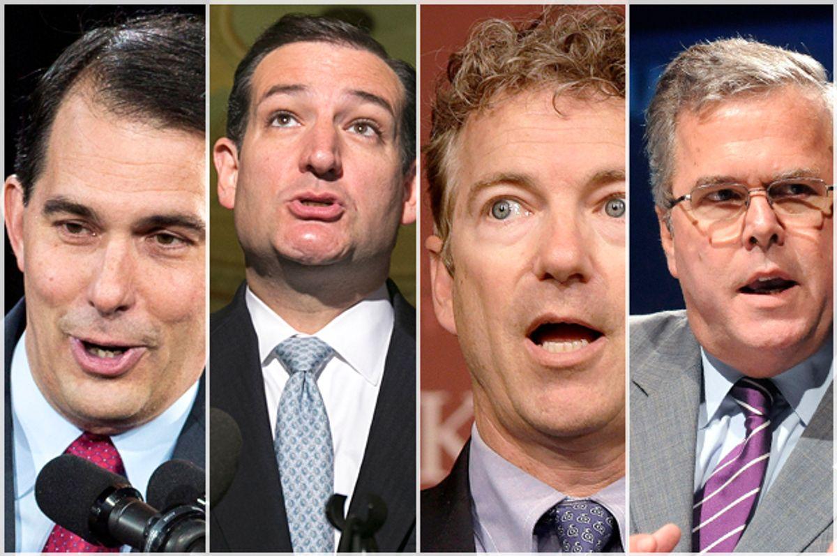 Scott Walker, Ted Cruz, Rand Paul, Jeb Bush                              (Reuters/AP/Sara Stathas/Kevin Lamarque/Stephan Savoia/David Manning)