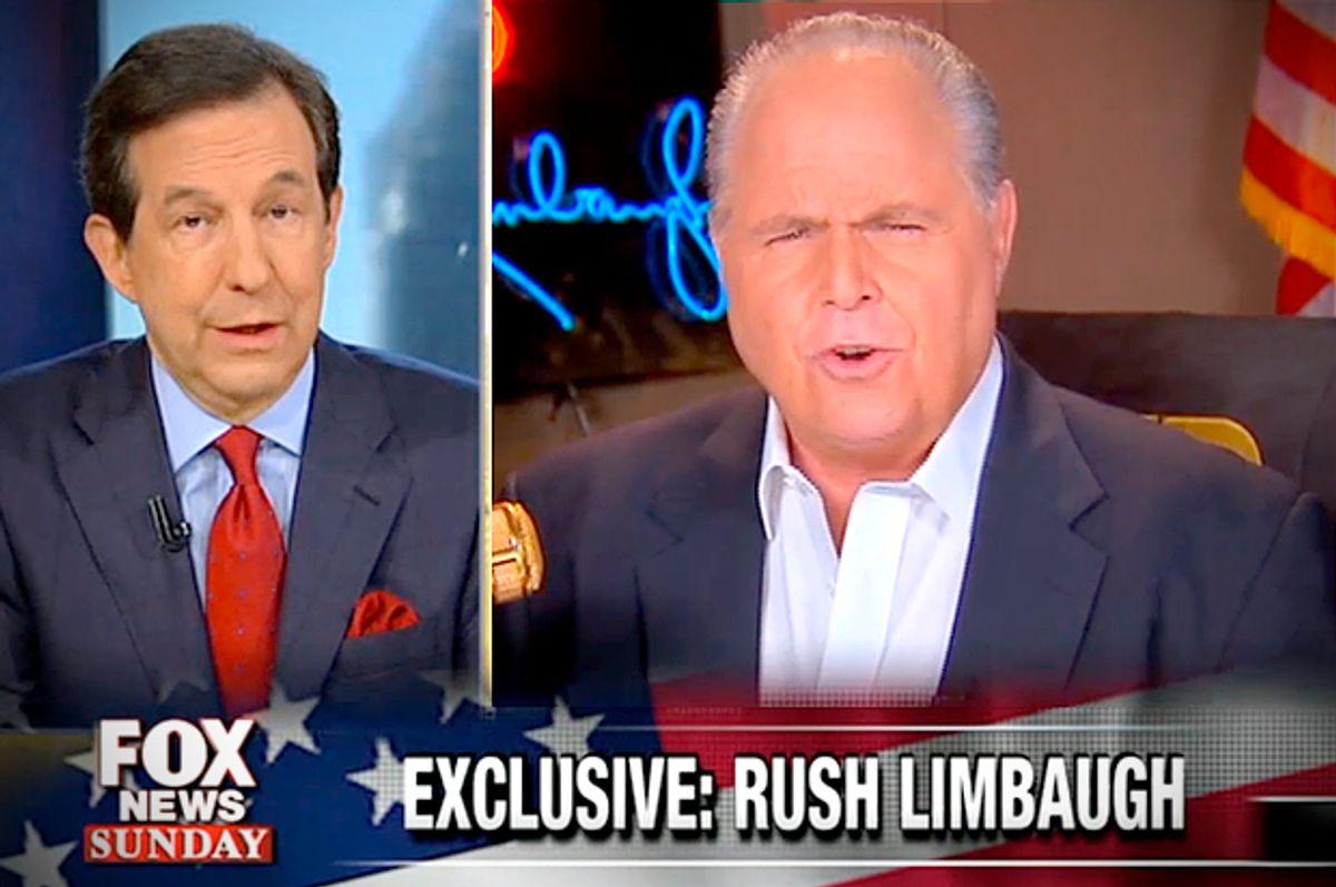 Chris Wallace, Rush Limbaugh           (Fox News)