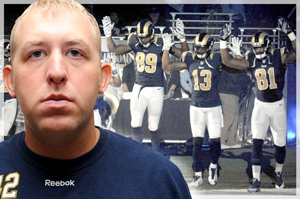 Darren Wilson; members of the St. Louis Rams         (Reuters/AP/L.G. Patterson/Photo montage by Salon)